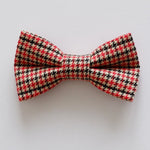 Houndstooth Red Dog Bow Tie