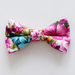 Floral Bloom Bow Tie Dog Collar | Handmade Dog Collar