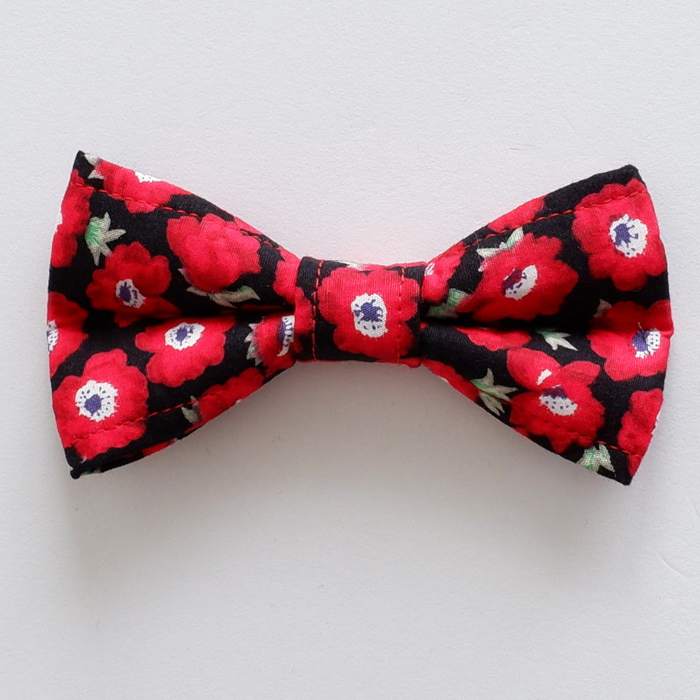 Poppies Dog Bow Tie