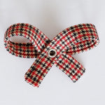 Houndstooth Red Dog Bow
