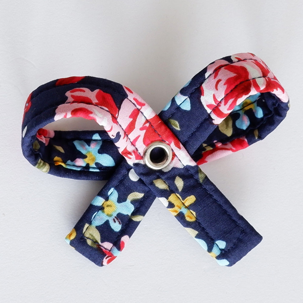 floral rose dog bow | Handmade Dog collar bow