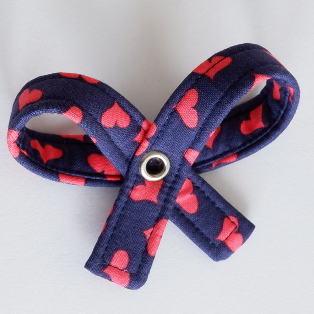 love heart dog bow | Handmade Dog collar bow