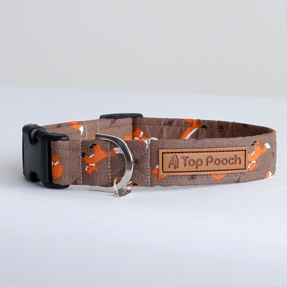 Autumn Foxes Dog Collar