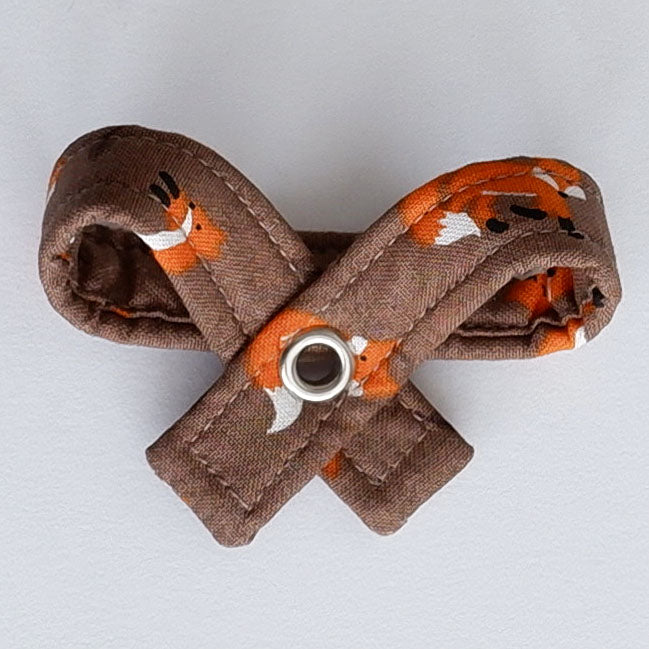 Autumn Foxes Dog Bow