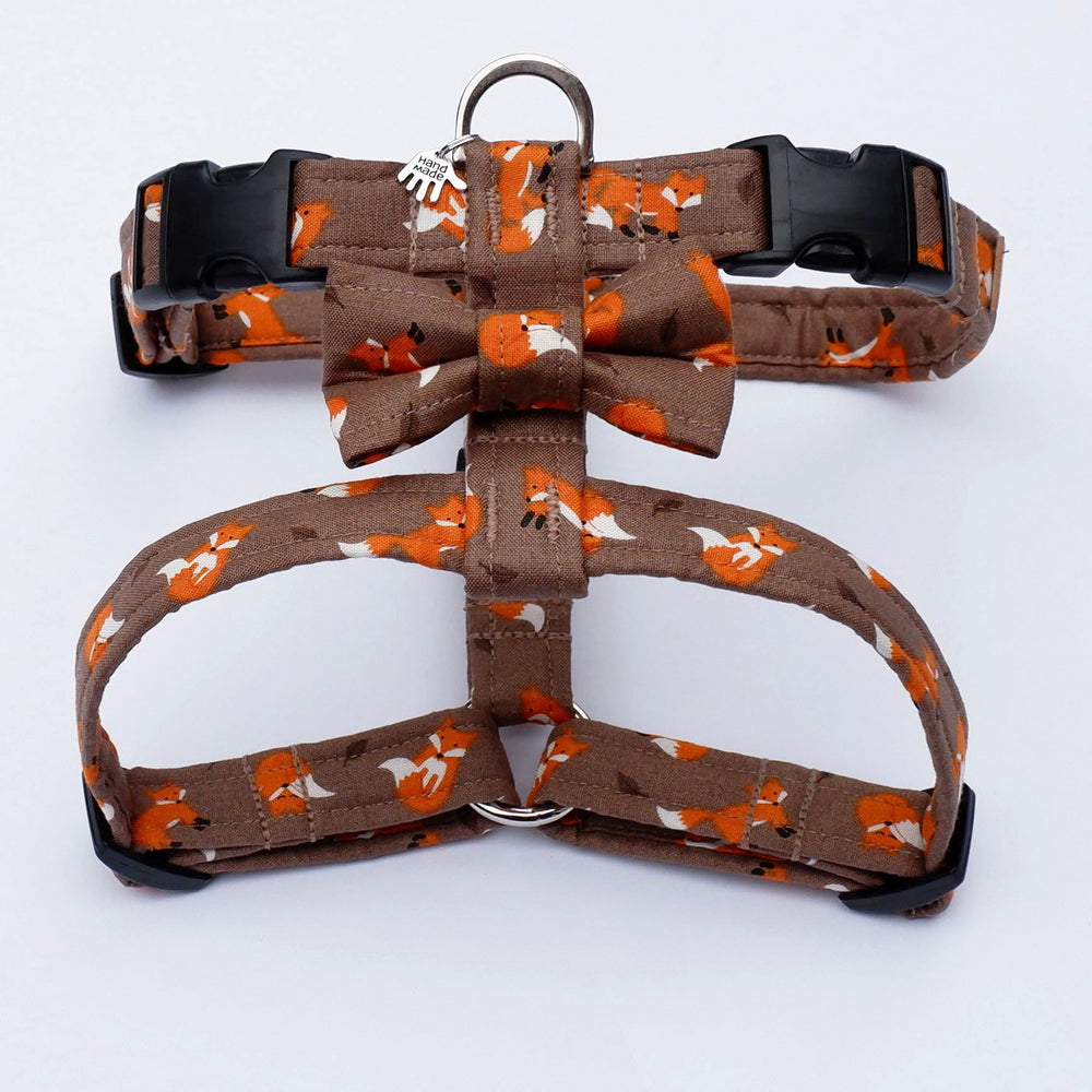 Autumn Foxes Dog Harness
