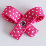 Polka Pink Dog Bow