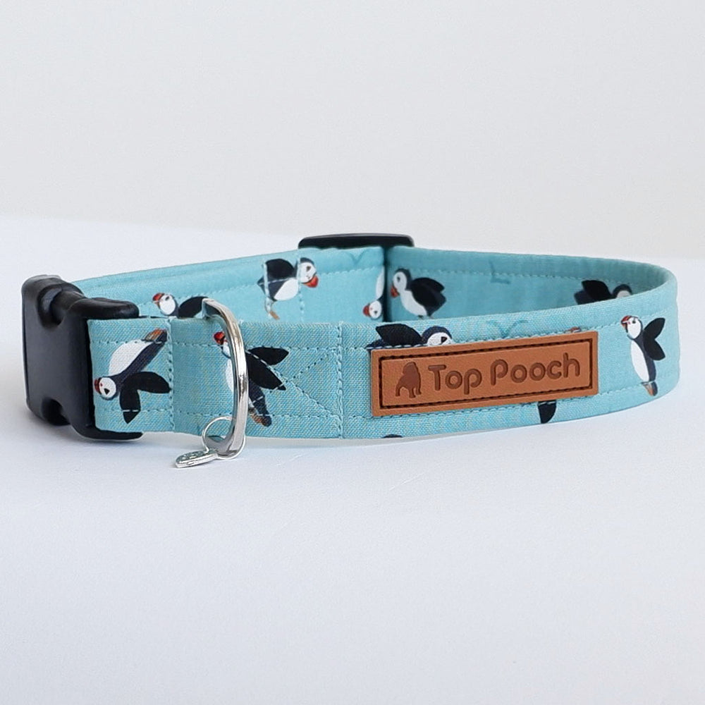 Puffins by the Sea Dog Collar