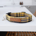 LARGE Yellow Tartan Dog Collar