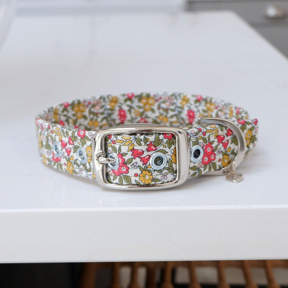 LARGE Country Garden Buckle Dog Collar