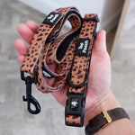 Animal Print Dog Collar - Rust/Copper