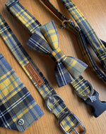 Yellow Tartan Dog Collar