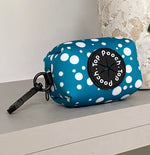 Bubble Spot Teal Poop Bag Holder