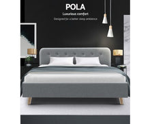 Load image into Gallery viewer, Artiss Pola Bed Frame - King Size
