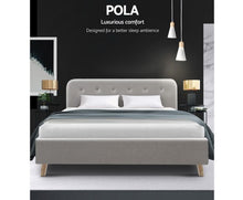 Load image into Gallery viewer, Artiss Pola Bed Frame - Queen Size