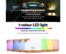 Load image into Gallery viewer, DEVANTi Aroma Diffuser Air Humidifier Night Light 600ml