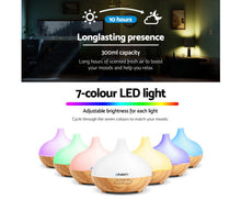 Load image into Gallery viewer, DEVANTi Aroma Diffuser Air Humidifier Night Light 300ml