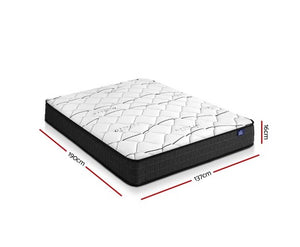 Giselle Bedding Double Size Mattress Bed Medium Firm Foam Bonnell Spring 16cm