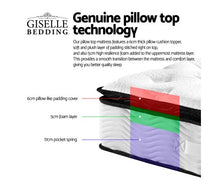 Load image into Gallery viewer, Giselle Bedding Pillow Top Queen Mattress