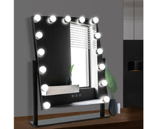 Load image into Gallery viewer, Embellir Makeup Mirror With Lighted 15 LED Standing Lights Hollywood Vanity White