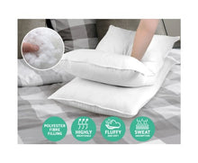 Load image into Gallery viewer, Giselle Bedding King Size 4 Pack Bed Pillow Medium*2 Firm*2 Microfibre Fiiling