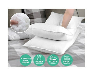 Giselle Bedding King Size 4 Pack Bed Pillow Medium*2 Firm*2 Microfibre Fiiling