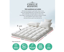 Load image into Gallery viewer, Giselle King Single Mattress Topper Pillowtop 1000GSM Microfibre Filling Protector