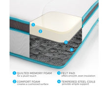 Load image into Gallery viewer, Palermo Single 20cm Memory Foam and Innerspring Hybrid Mattress