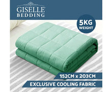 Load image into Gallery viewer, Giselle Weighted Blanket Kids 2.3Kg Heavy Gravity Cooling Blankets Summer Aqua