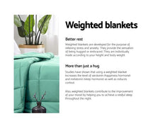 Load image into Gallery viewer, Giselle Weighted Blanket Adult 7kg Heavy Gravity Cooling Blankets Summer Aqua