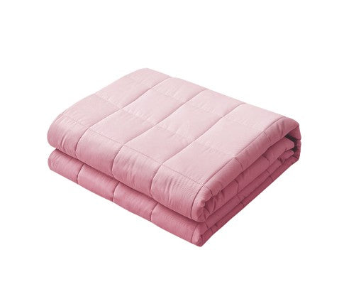 Giselle Weighted Blanket Adult 7KG Heavy Gravity Cooling Blankets Summer Pink