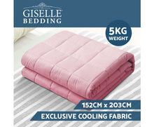 Load image into Gallery viewer, Giselle Weighted Blanket Kids 2.3KG Heavy Gravity Cooling Blankets Summer Pink