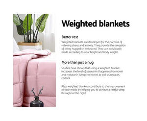 Giselle Weighted Blanket Adult 9KG Heavy Gravity Cooling Blankets Summer Pink