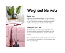 Load image into Gallery viewer, Giselle Weighted Blanket Adult 7KG Heavy Gravity Cooling Blankets Summer Pink