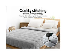 Load image into Gallery viewer, Giselle Bedding 7KG Cotton Weighted Gravity Blanket Deep Relax Calming Adults Light Grey