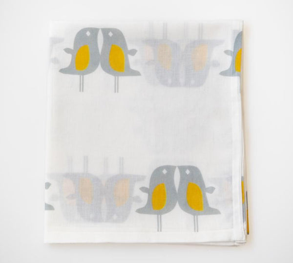 Love Birds Muslin Wrap