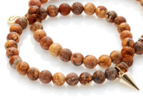 All For One Bracelet - Picture Jasper/Gold