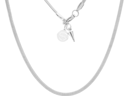 Herringbone Necklace - Silver