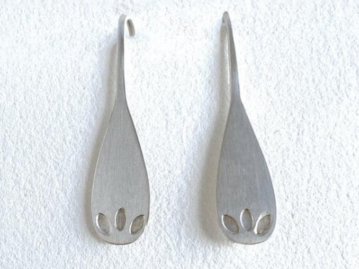 Three Leaf Spoon Earrings