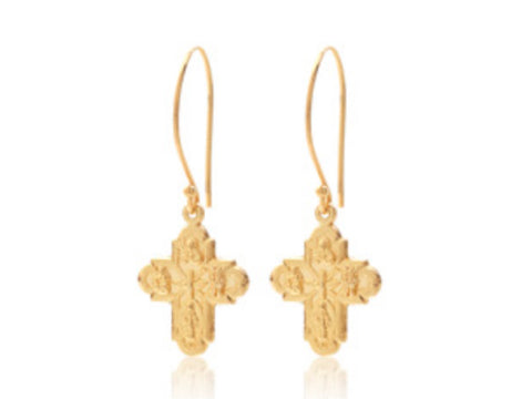 Super Cross Earrings - Gold