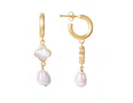Mother of Pearl Pearl Drop Earrings