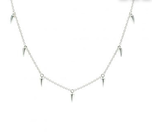 Sahara Dagger Choker Necklace Sterling Silver