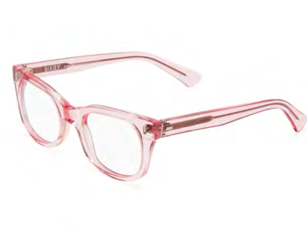Bixby Reading Glasses - Polished Clear Pink