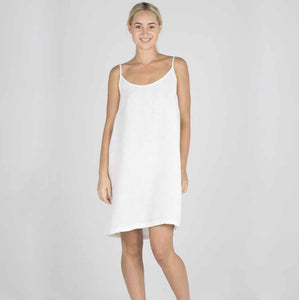 Eadie 100% Linen Slip Dress