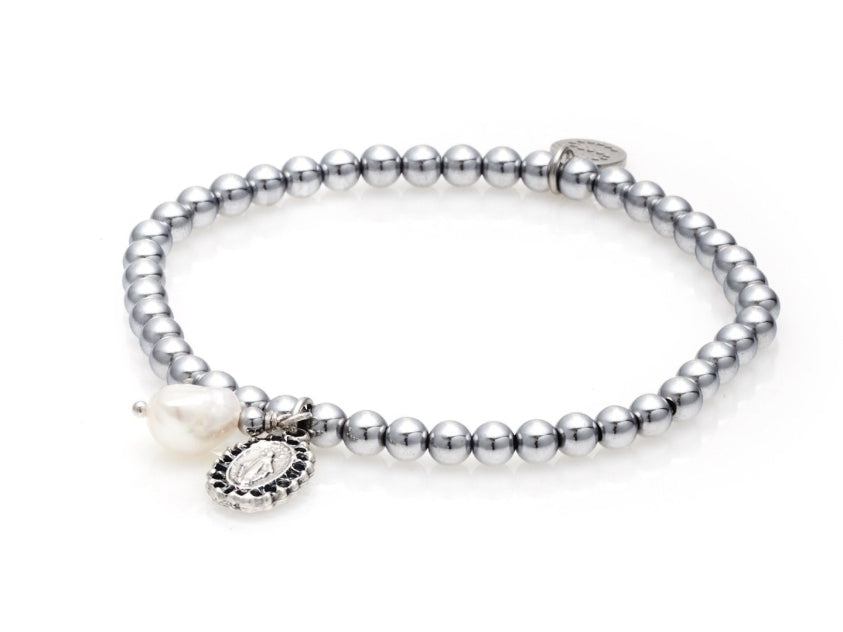 Together Forever Bracelet Silver/Pearl