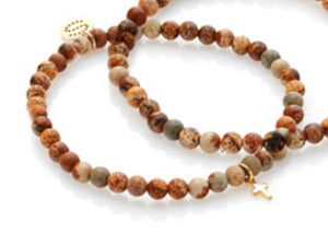 Peace of Mind Bracelet - Picture Jasper/Gold