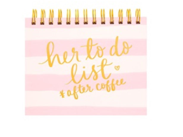 Her To Do List After Coffee