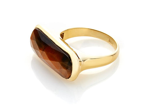 Grace Ring (Tigers Eye/Gold)