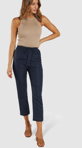 Jolie Linen Pants - Navy