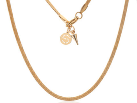 Herringbone Necklace - Gold