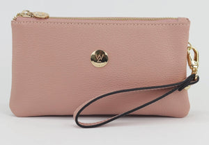 Polly Leather Clutch